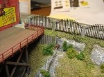 N Scale: 8 Foot High Gated Community Fence