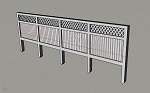 N Scale: 6 Foot High Privacy Fence