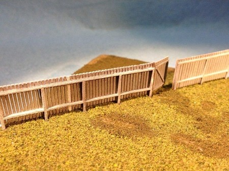N Scale: 6 Foot High Security Fence