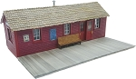 HO Scale Kit: Portable Train Station (CPR Standard)