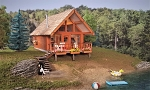 HO Scale Kit: The Lake Cabin