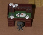 HO Scale: Roll Top Desk and Chair
