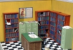 HO Scale: Book Cases (4 Units)