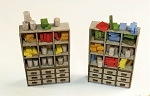 HO Scale Kit: Shop Cabinets with Drawers (4 Cabinets)