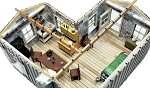 HO Scale: Moonshiner's Cabin Interior Detailing Kit