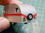 HO Scale Kit: 17 Foot Vintage Travel Trailer