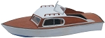 HO Scale: Seabiscuit 24 Runabout Cabin Cruiser (2 Boats)
