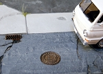 N Scale Kit: Manhole Covers and Drains (9 Covers, 8 Drains)