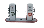 O Scale Kit: 1950's Gas Pumps (2 Pumps)