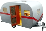 O Scale: 17ft Vintage Travel Trailer