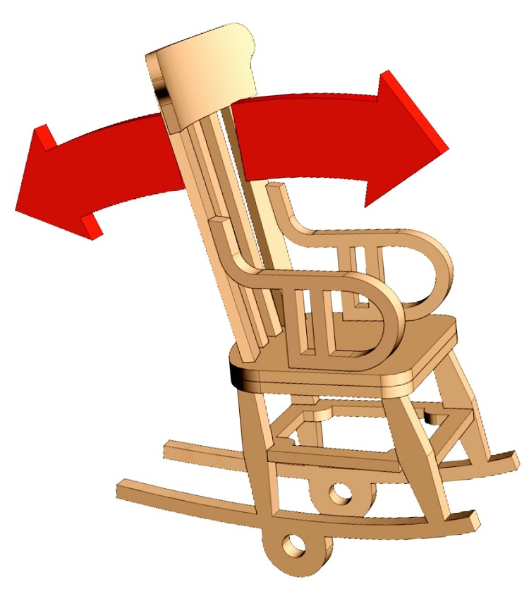 HO Scale: Rocking Chair Animation Kit