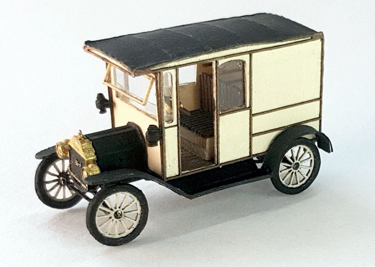 HO Scale: 1911 Ford Model T Panel Van