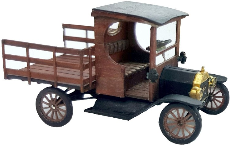HO Scale: 1912 Ford Model T Flat Bed Truck