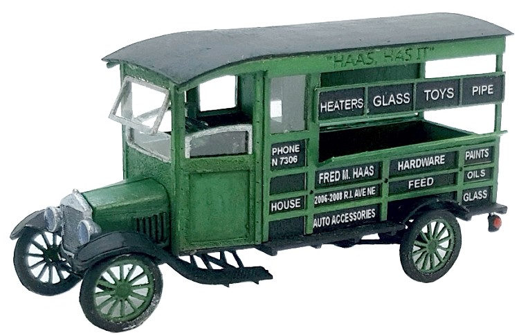 HO Scale: 1924 Ford Model T Delivery Truck